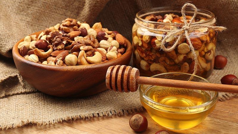 мед с орехами для потенции